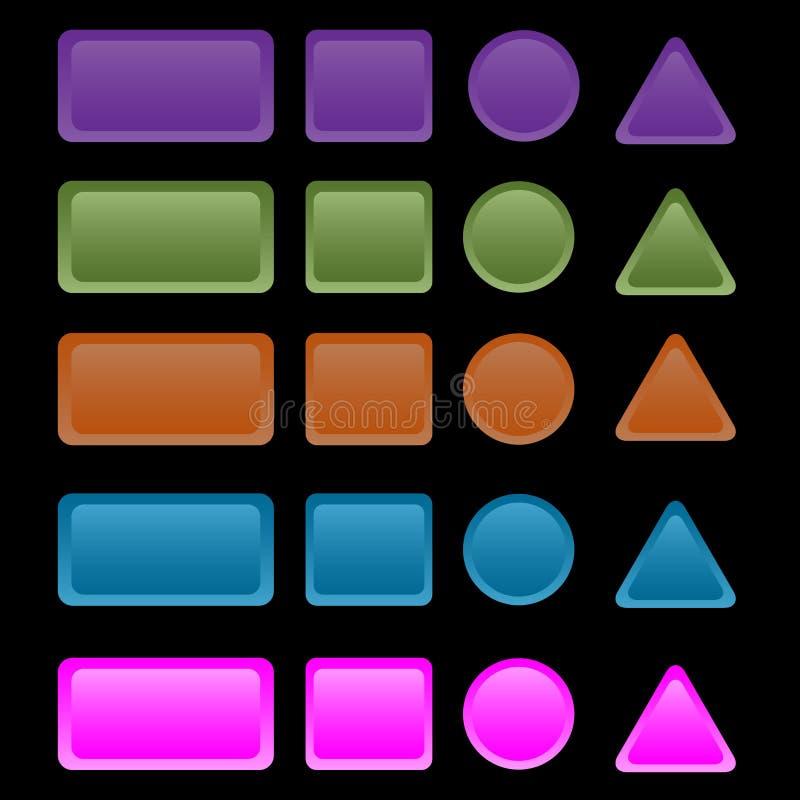 Kleurrijke Webknopen royalty-vrije illustratie