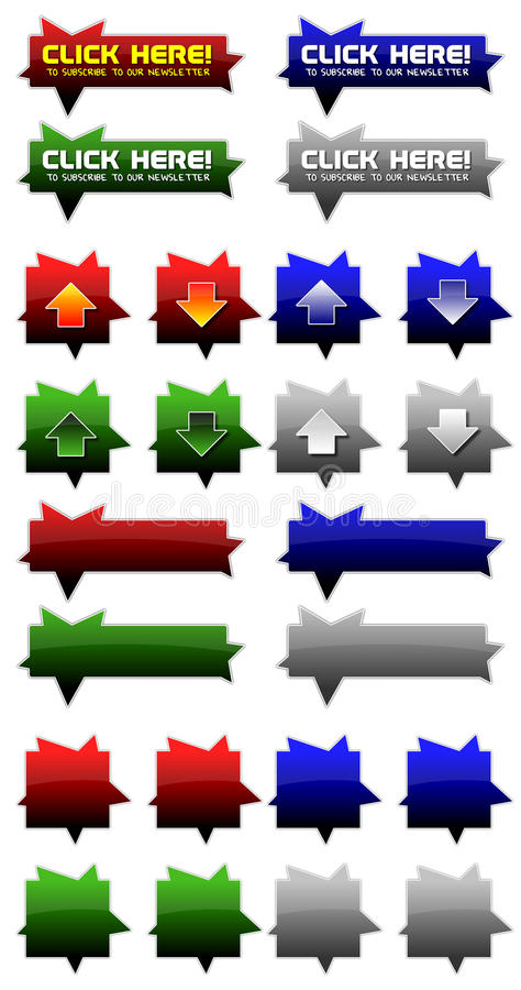 Kleurrijke Webpictogrammen royalty-vrije stock afbeelding