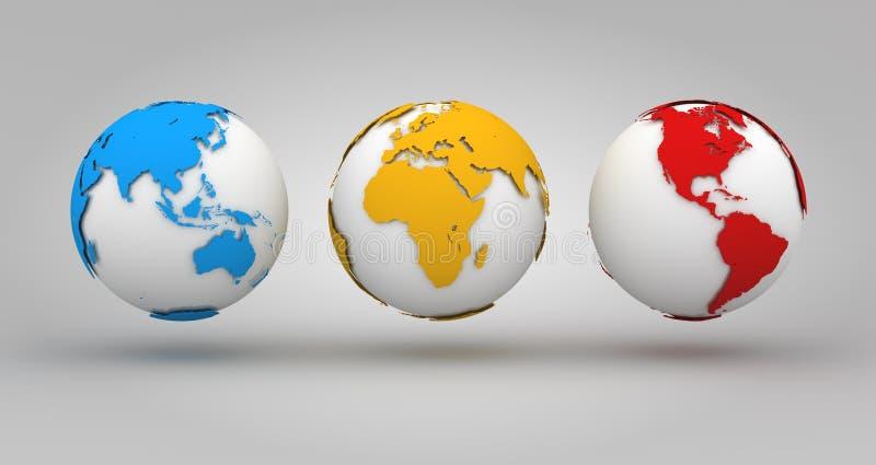Download Kleurrijke Wereldachtergrond Stock Illustratie - Illustratie bestaande uit afrika, aarde: 107704642