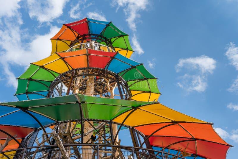 Kleurrijke Wildernisgymnastiek stock foto