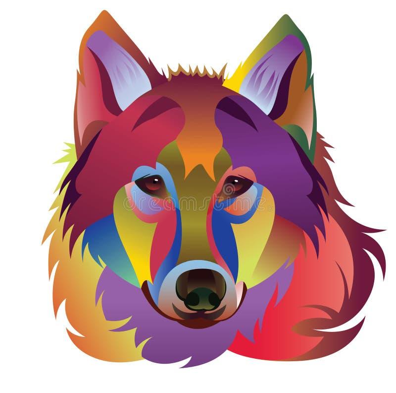 Kleurrijke wolfs vectorillustratie/eps vector illustratie