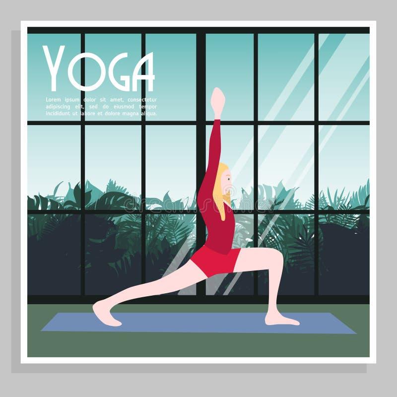 Kleurrijke Yogaaffiche vector illustratie