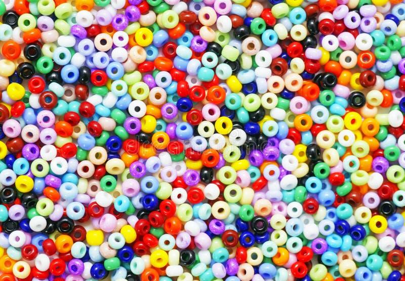 Kleurrijke zaadparels stock afbeelding