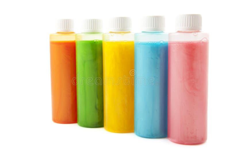 Kleurrijke zeep in een rij royalty-vrije stock afbeeldingen