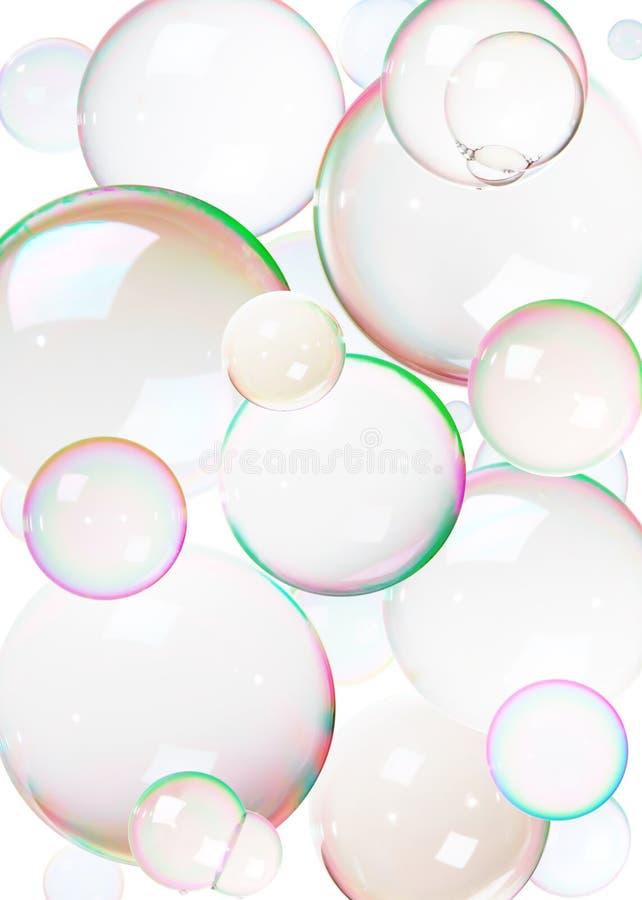 Kleurrijke zeepbels royalty-vrije stock foto's
