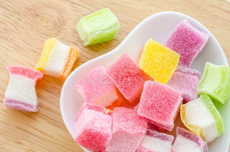 Kleurrijke zoete gelei stock fotografie