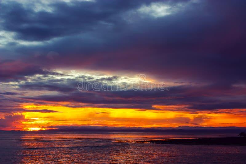 Kleurrijke Zonsondergang bij Havelock-Eiland royalty-vrije stock foto's