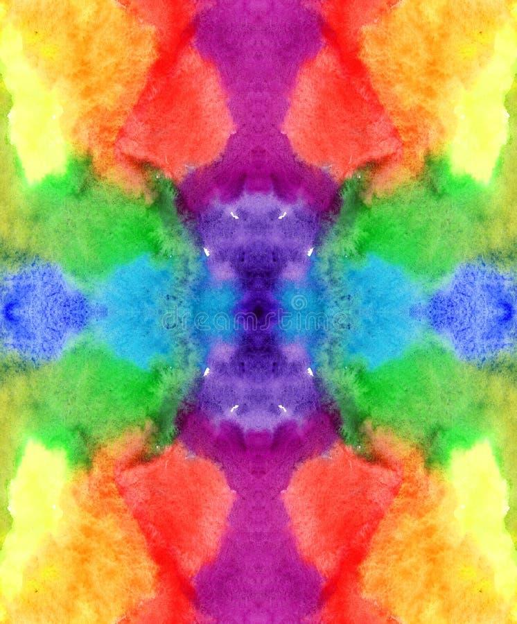 Kleurt de waterverf eindeloze regenboog achtergrondpatroon: rood oranjegeel groenachtig blauw purper viooltje royalty-vrije illustratie