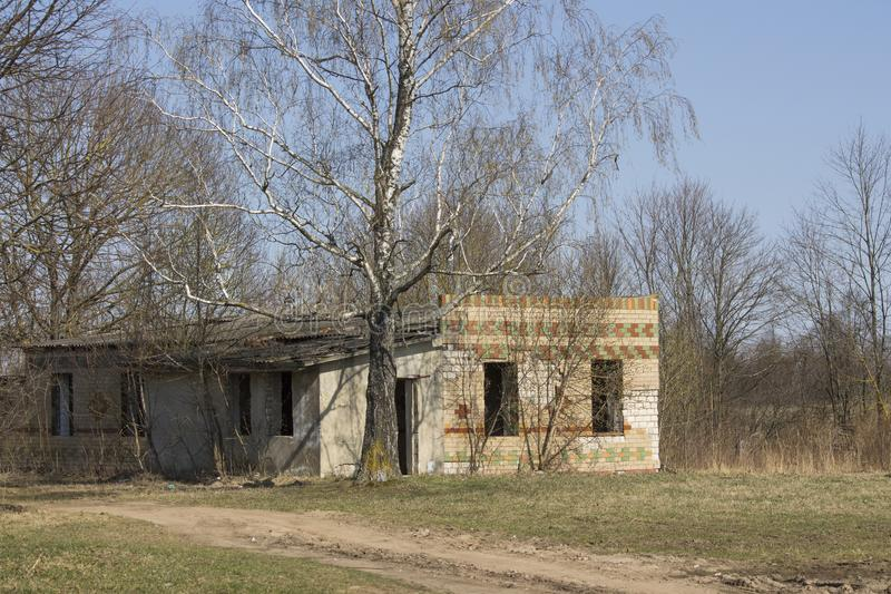 Kleuterschool in de buurt 2018 van Tchernobyl stock foto