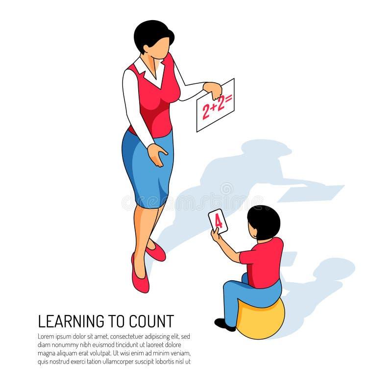 Kleuterschool die Isometrische Illustratie leren vector illustratie