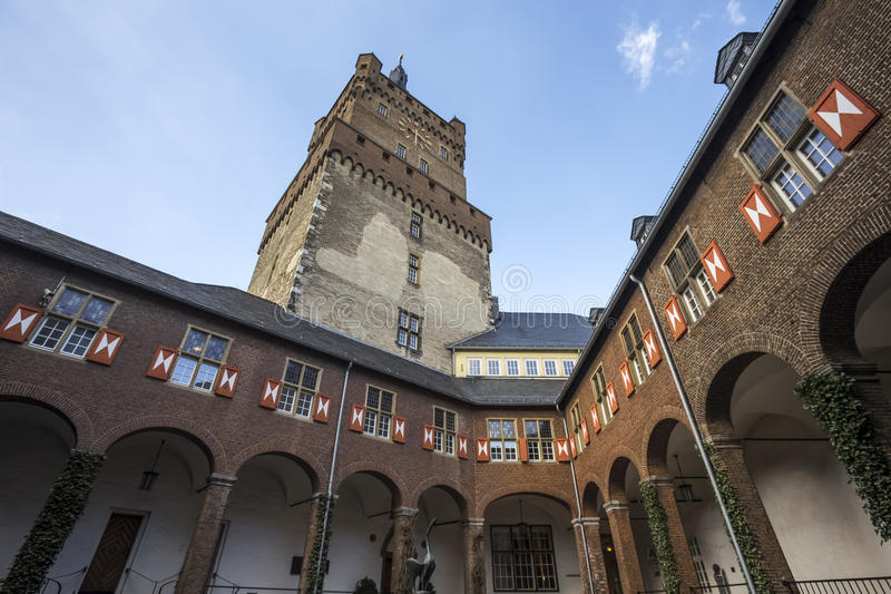Kleve Германия замка schwanenburg стоковые фотографии rf