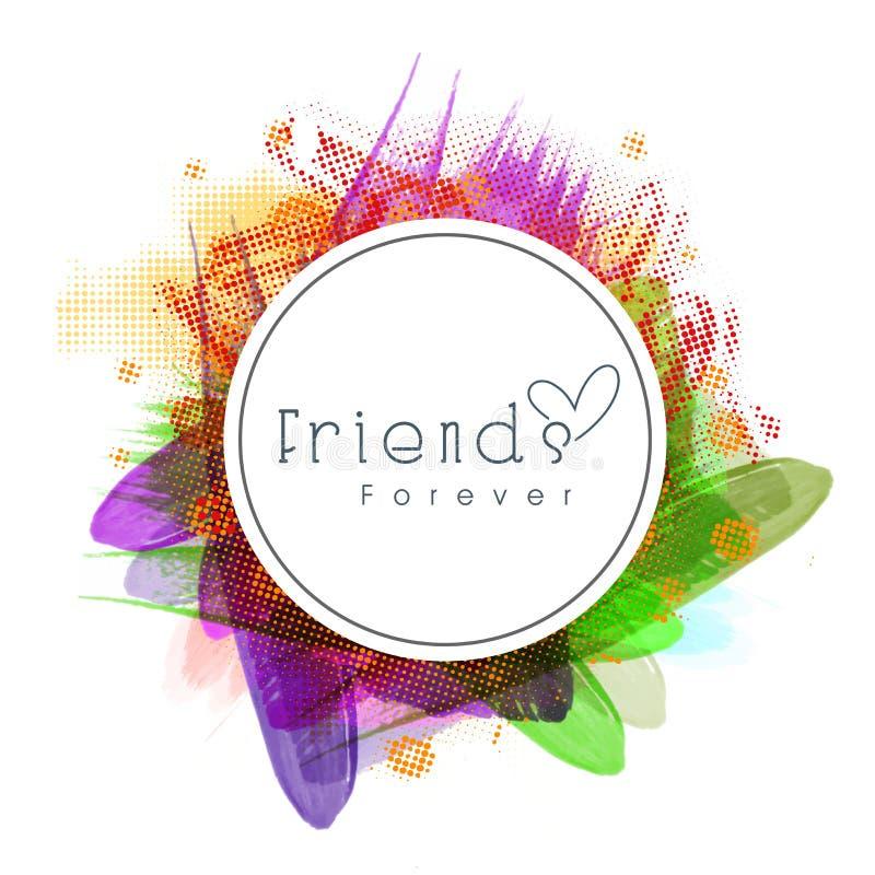 Kleverig ontwerp voor de viering van de Vriendschapsdag stock illustratie