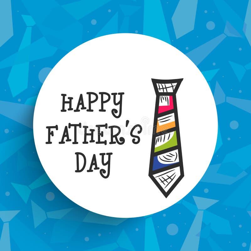Kleverig ontwerp voor Gelukkige Vaderdagviering vector illustratie