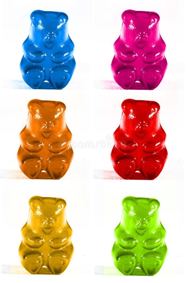 Kleverige beren royalty-vrije stock foto