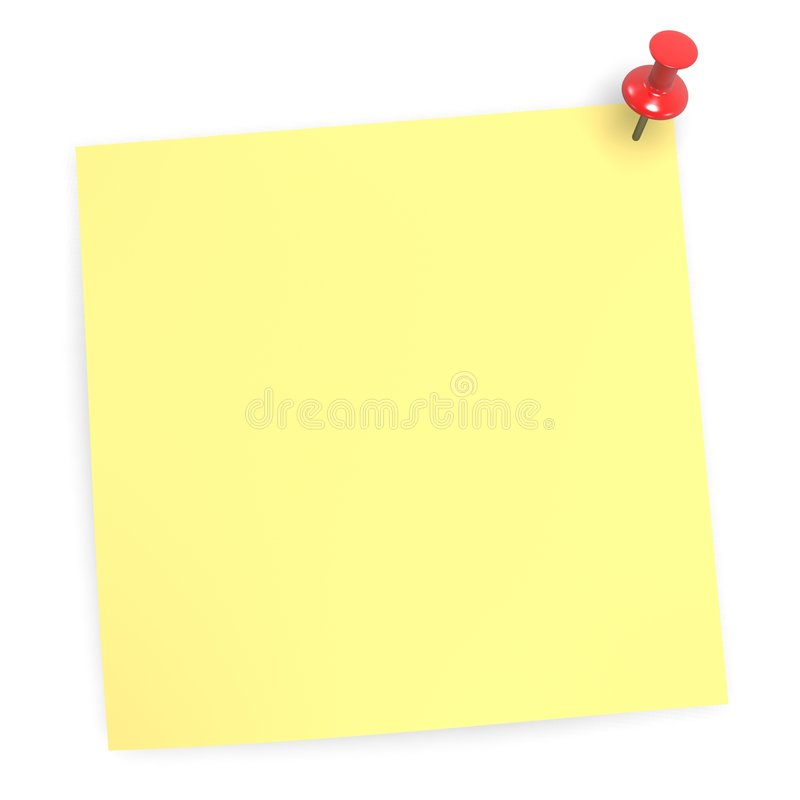 Kleverige lege nota stock illustratie