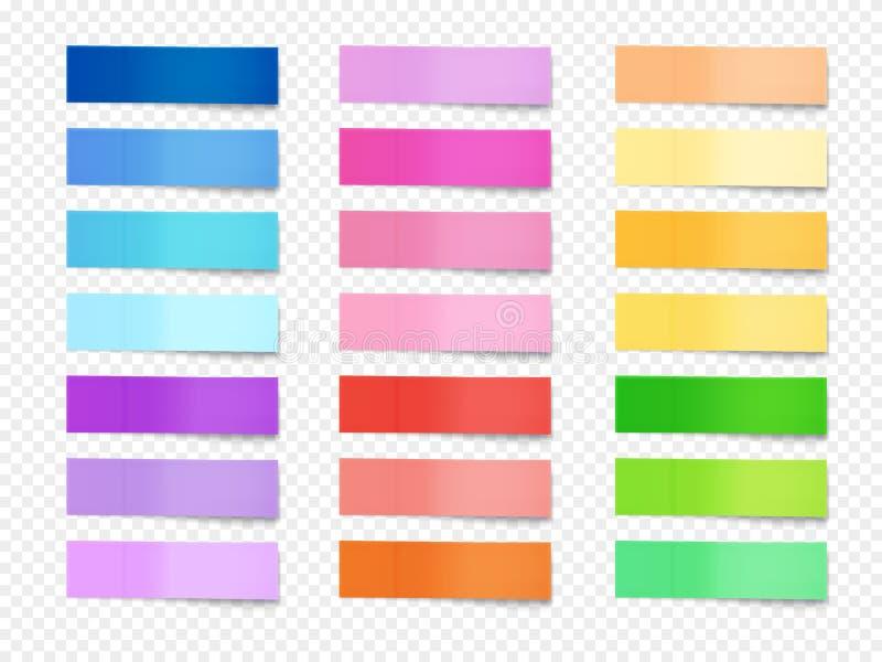 Kleverige memorandumnota's geplaatst vectorillustratie vector illustratie