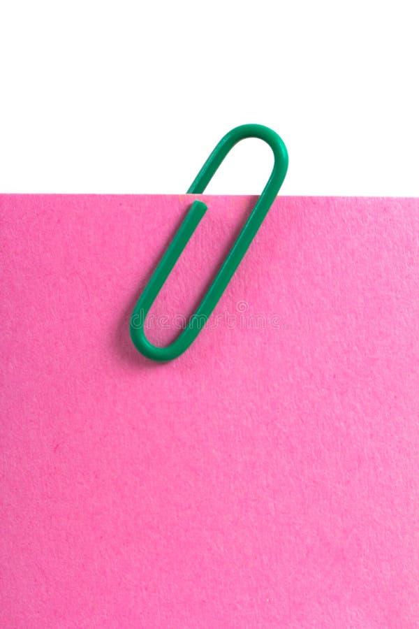 Kleverige Nota en Paperclip stock fotografie