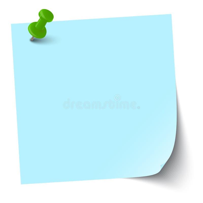 Kleverige nota met speldnaald royalty-vrije illustratie