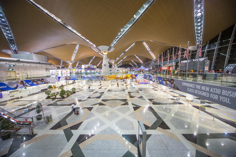 KLIA Airport Free Taxes Shops royalty free stock photo