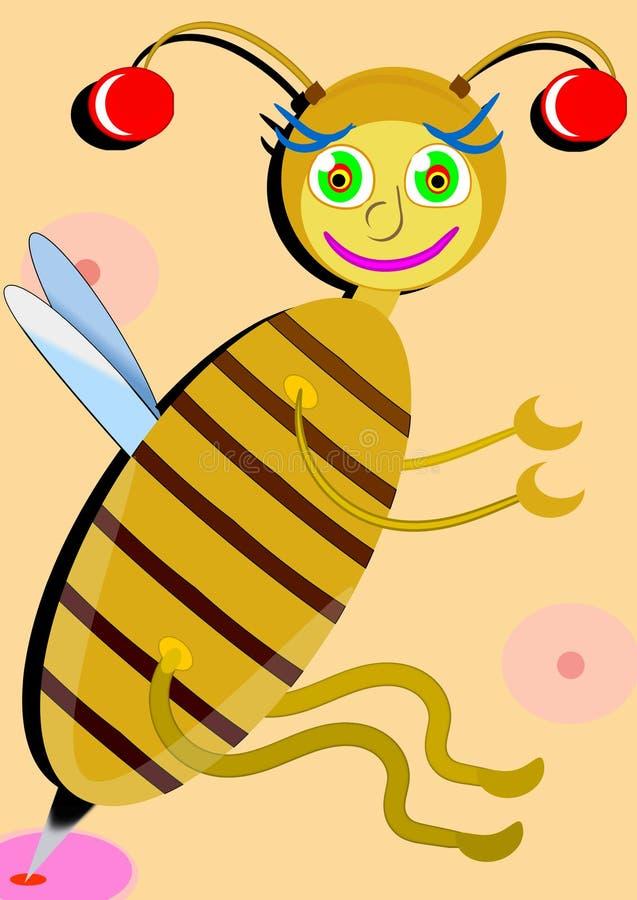 Kliande onda Wasp royaltyfri illustrationer
