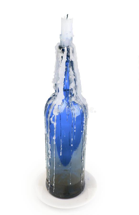 klibbat flaskstearinljus royaltyfria foton