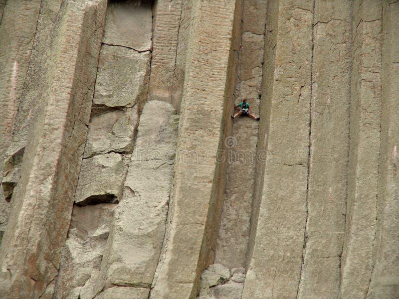 klibbat torn för klättring jäklar arkivfoton