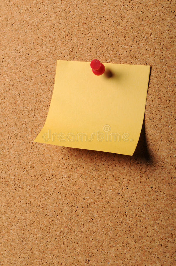 klibbig brädekorknotepaper royaltyfri foto