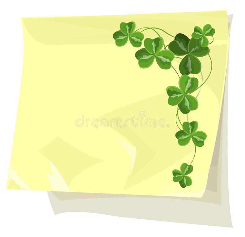 klibbig paper shamrock royaltyfri illustrationer