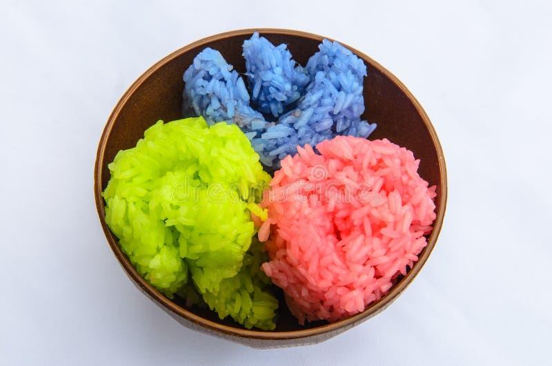 klibbig rice royaltyfri fotografi