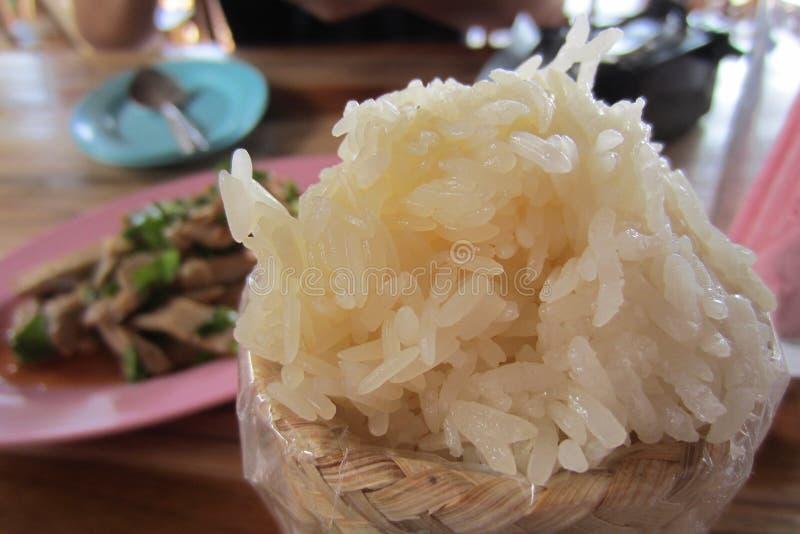 klibbig rice arkivfoto