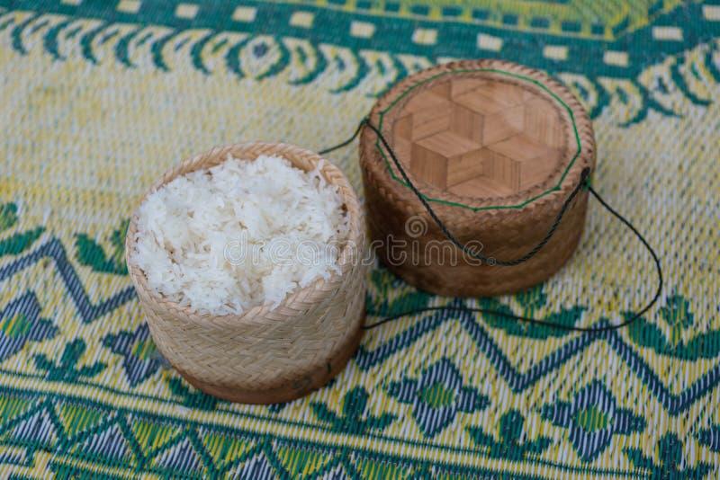 klibbig rice royaltyfri bild