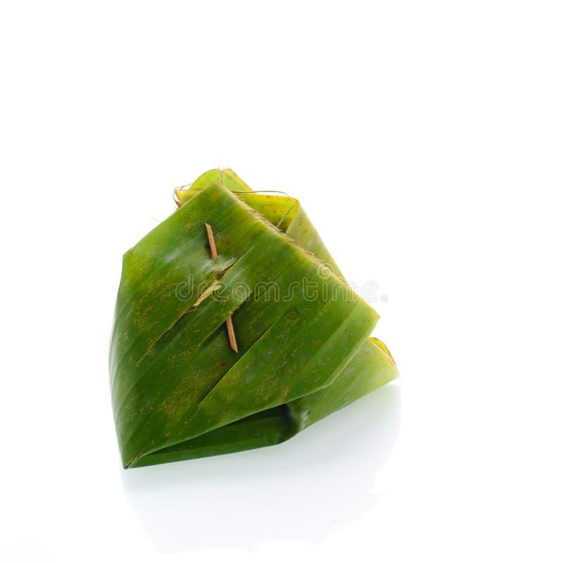 Klibbig rice med ångad custard fotografering för bildbyråer