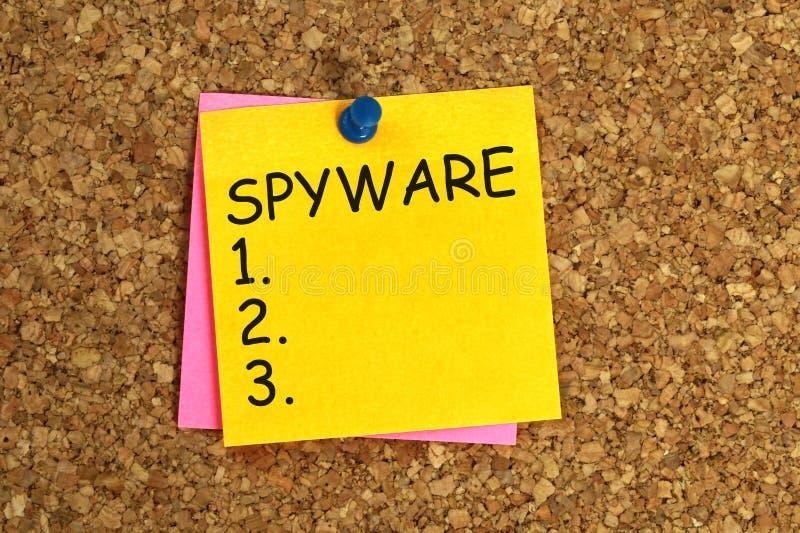 Klibbig Spyware arkivfoto