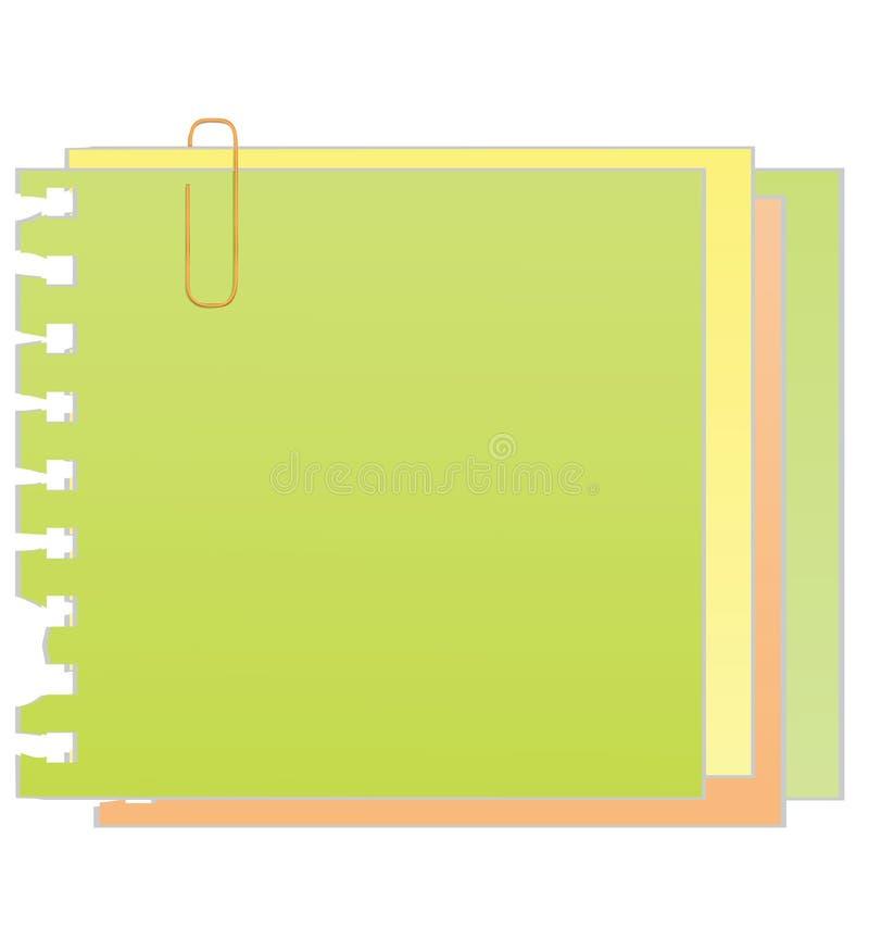 klibbig vektor för gemanmärkningspapper vektor illustrationer