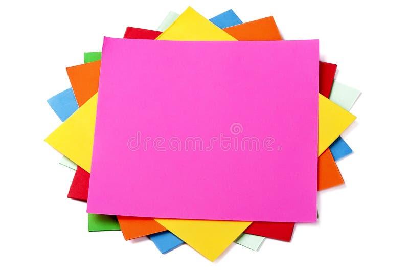 klibbiga färgrika anmärkningar arkivbild