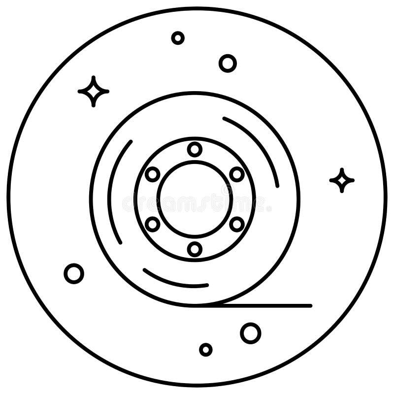 klibbigt band Symbolsbrevpapper Tejp inom cirkeln Design för websites och olika grejer stock illustrationer