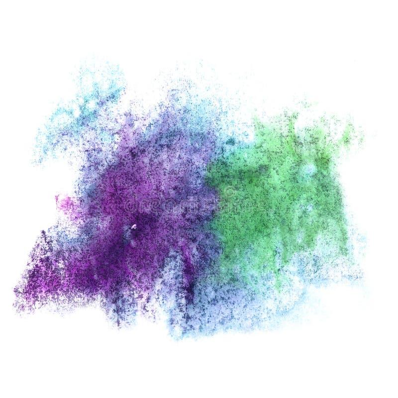 Klick för blå gräsplan för målarfärg för konstvattenfärgfärgpulver royaltyfria bilder