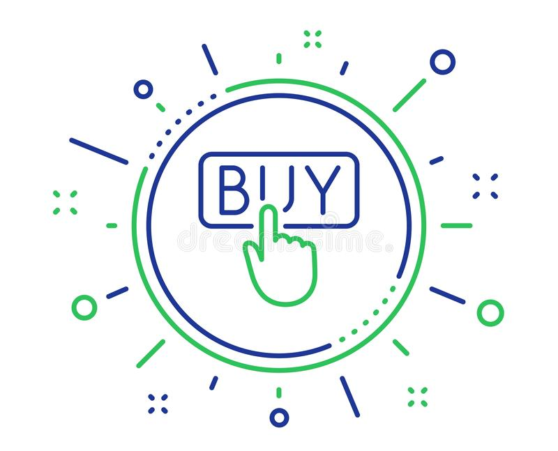Klick som k?per linjen symbol Online-shoppingtecken vektor royaltyfri illustrationer