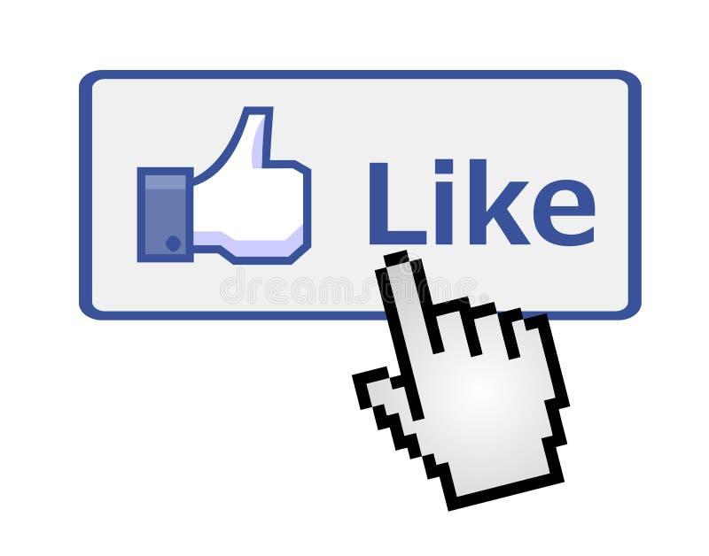 klickande hand för knapp som pixelated royaltyfri illustrationer