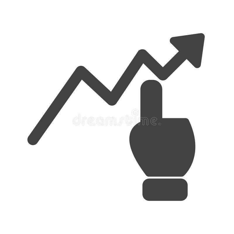 Klicken Sie an Diagramm stock abbildung