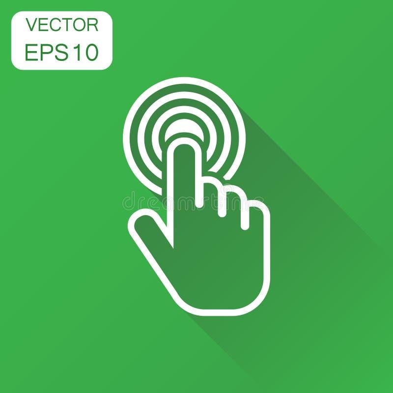 Klickenhandikone Geschäftskonzept-Cursor-Fingerpiktogramm Vecto vektor abbildung