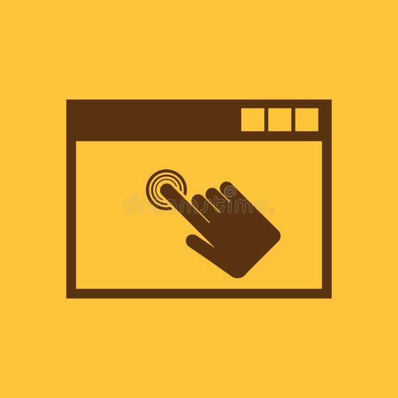 Klickenikone ENV 10 Klickensymbol web graphik jpg ai app zeichen nachricht flach bild zeichen ENV Kunst abbildung stock abbildung