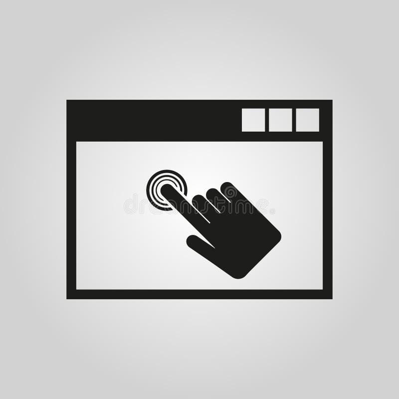 Klickenikone ENV 10 Symbol web graphik jpg ai app zeichen nachricht flach bild zeichen ENV Kunst abbildung vektor abbildung