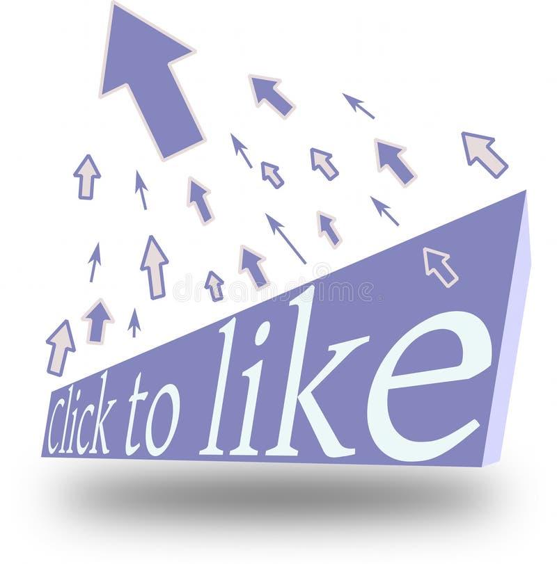 klickfacebookfanpagen like till stock illustrationer
