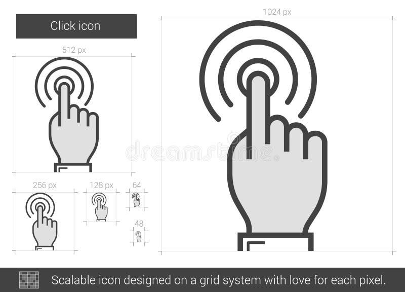 Klicklinje symbol vektor illustrationer