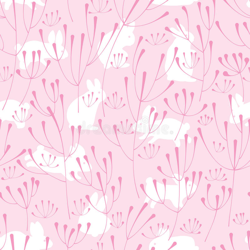 Klickväxtrosa färger oavbrutet tjata den sömlösa modellen stock illustrationer