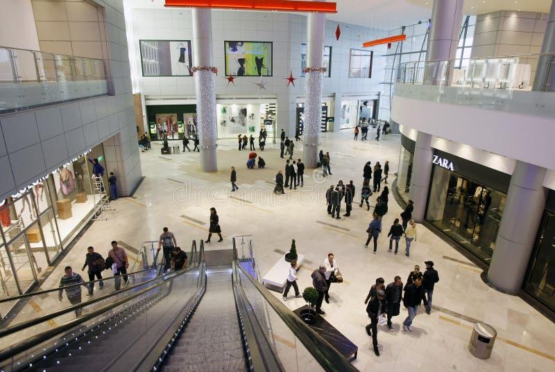 klientów centrum handlowego zakupy zdjęcie stock
