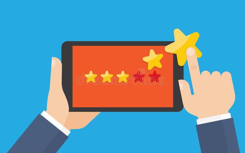 Klientów przeglądy, ocena, klasyfikacyjny pojęcie ilustracja wektor