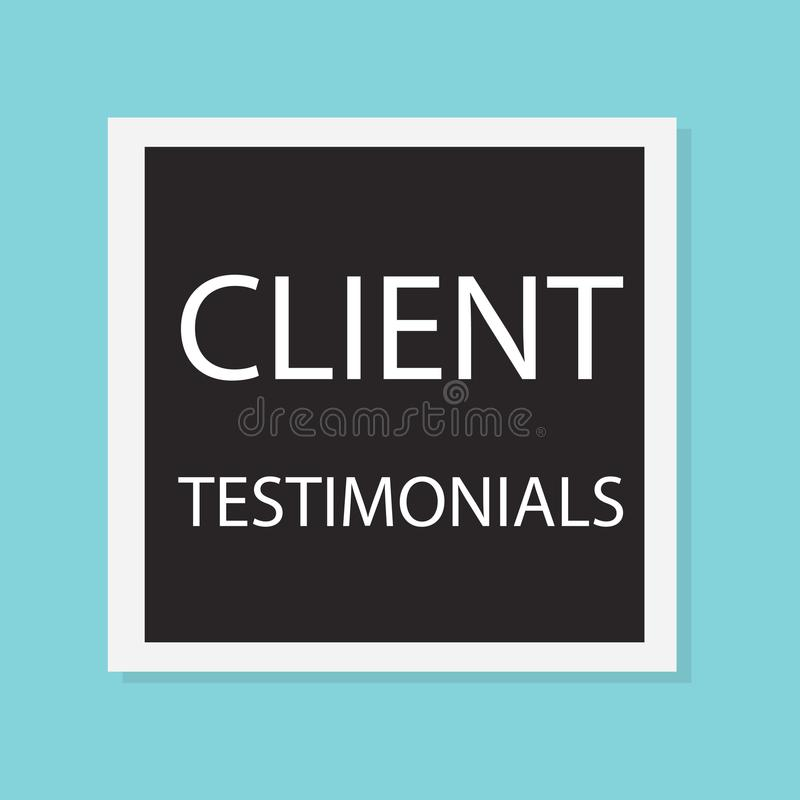 Klientów testimonials pojęcie ilustracja wektor