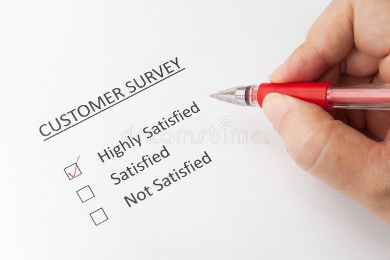 Klient ankieta zdjęcie stock